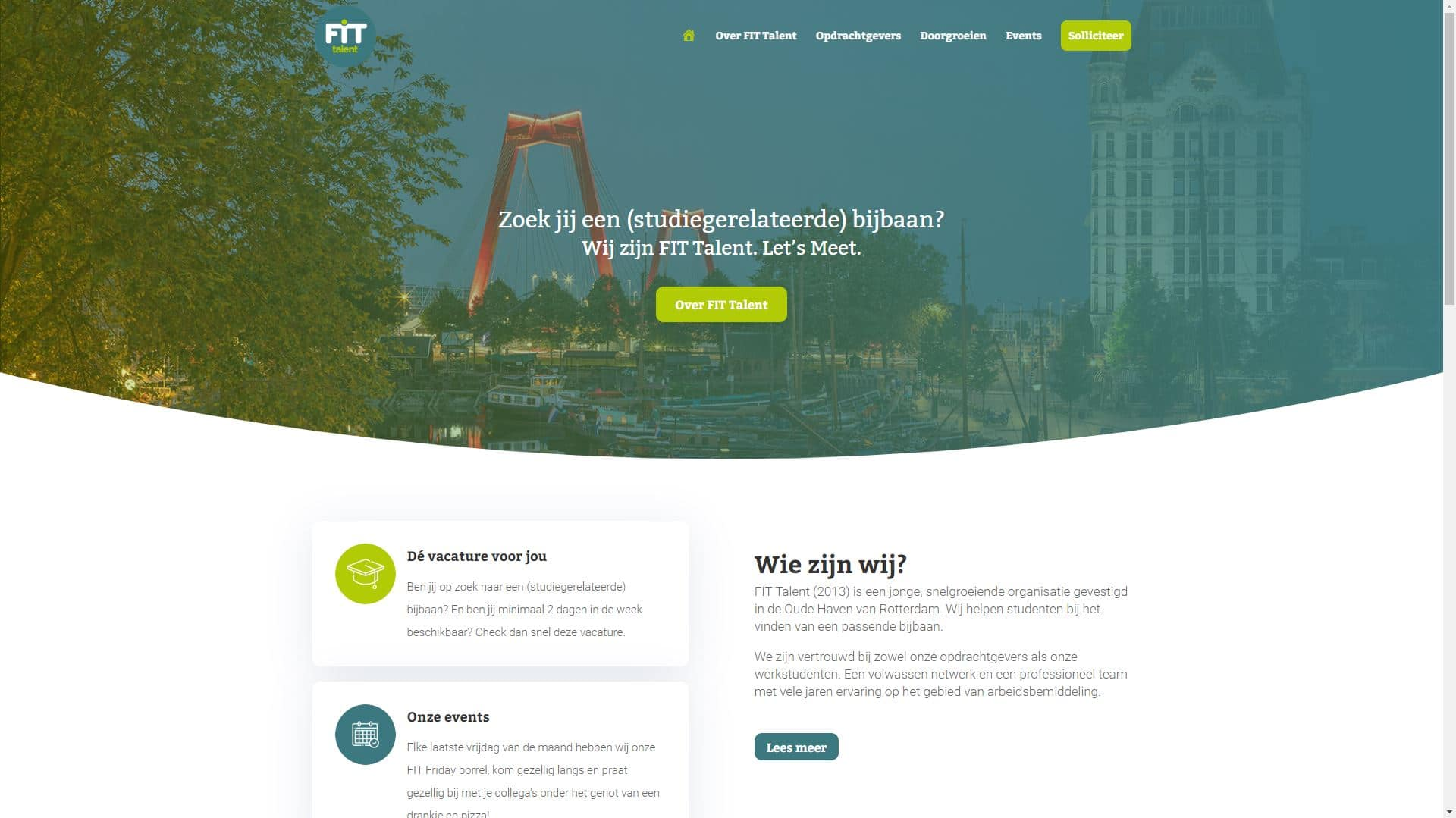 FIT Talent website
